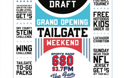 Grand Opening Tailgate Weekend at The Daily Draft
